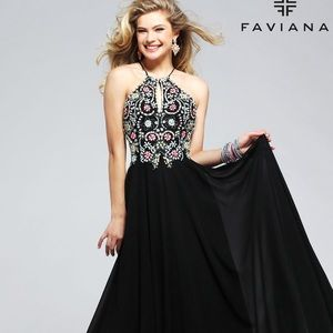 Black Faviana prom dress